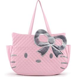 Bolsas de la moda japonesa online-Cute fashion Japanese Korea style kitty shap bolsos de gran capacidad bolsos de hombro para mujer 2018 bolsos de diseñador marca famosa