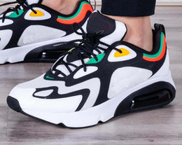 buone schede Sconti Nike Air Max 200 Scarpe da corsa Scarpe da uomo Nuovo arrivo 200 Nero Bianco Blu Scarpe sportive estive Sneakers Nuovo stile Eur 40-45