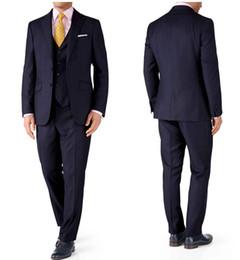 Trois pièces Dark Tuxedos Wedding Groom Groommen Suits Hommes Voyage d'affaires Occasion Dîner de bal Costumes de fête ? partir de fabricateur