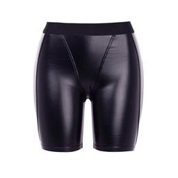 2019 calções de noite sexy adulto Mulheres Shorts Casuais PU Sexy Clube Do Punk Hip Hop Verão Magro Fino Preto Sólido Gótico Senhora Escritório Moda Feminina Calções Goth