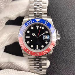 2019 anillos de lujo azul DJ vendedor caliente de lujo para hombre relojes rojo y azul anillo de cerámica 40mm calendario 2836 automático mecánico mesa masculina anillos de lujo azul baratos