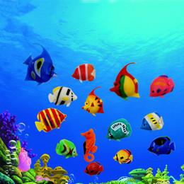 Poissons aquarium jouets en Ligne-Nouvelle simulation poisson Robofish Robo en plastique Poisson Jouet Robotique Fish Tank Aquarium Ornements Décorations Aquarium fournitures