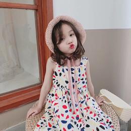 2019 nuevo vestido de fiesta de verano de las niñas verano niños tirantes falda chaleco falda maxi envío gratis desde fabricantes
