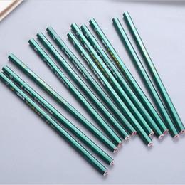2019 caixas de lápis coloridas por atacado Verde 2B lápis coreano papelaria eco-friendly não-tóxico padrão alunos crianças lápis de madeira esboço escola escritório suplies ferramentas de escrita