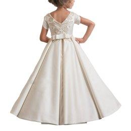 Trajes de piano online-Traje de boda NIÑOS vestido de princesa vestido de las muchachas Piano falda larga de flores Childrenswear muchachos / muchachas de flor de cumpleaños para