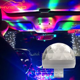 2019 vacanza di mele Car USB Ambient Light DJ RGB Mini musica colorata Sound Light Interfaccia USB-C Interfaccia Apple Holiday Party Karaoke vacanza di mele economici