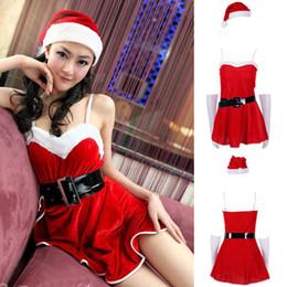 2019 roupas sexy de santa Mais recentes Chegadas Moda Hot Mulheres de Natal Sexy Papai Noel Traje Cosplay Outfit Fancy Dress roupas sexy de santa barato
