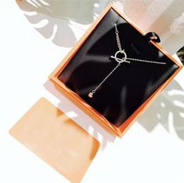 Cadena de plata s925 online-Collar de lujo Mujeres collar de diamantes S925 plata esterlina borla de la clavícula de las mujeres Diseñador collar colgante Envío gratis