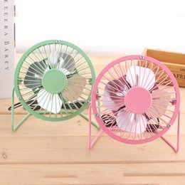 smallest desktop Coupons - 4 Inch Usb Mini Desktop Fan Portable Aluminum USB 4 Blades Home Office Cooler Cooling Car Fan Small Students Outdoor Portable Fan BH1452 TQQ