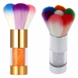Nail Brush Nails Dust Cleaner Acrylic Colorful Makeup Brushes With Diamond Pinceles para limpiar el polvo Art Nail Tools R0083 desde fabricantes