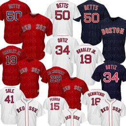 Boston 50 Mookie Betts Red Sox Jersey Andrew Benintendi 34 David Ortiz 9 Ted Williams 28 JD Martinez Dustin Pedroia Maglie da baseball da