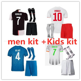 Números de jersey de futebol on-line-19 20 NEW Men + kids kit Soccer Jerseys 19 20 adult and boys Kit Maillot de foot custom name and number football shirt and short