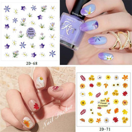 Merletti di chiodo online-2D Nail Art Decorazione Nail Art 60 stili Flower Leaf Design in pizzo Nails Art Manicure Decalcomanie Nail trucco