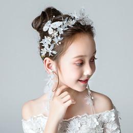 NPASON bambini capelli decorare vestito ghirlanda di fiori copricapo capelli banda principessa joker dolce ragazza abito da sposa ornamenti spettacolo da