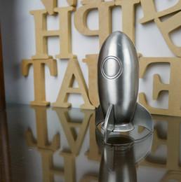 Espace de bureau en Ligne-Espace mignon fusée tirelire Vintage style missile tirelire Économiser de l'argent pot de monnaie en métal satiné finition cadeau d'anniversaire de nouveauté pour les enfants