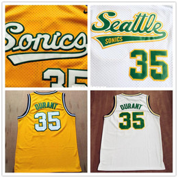 048aaeaf9d6 New Retro  35 KD Basketball Jersey Top quality Mesh Retro Jerseys Mens  sport shirt Embroidery Logo Ncaa kd jersey on sale