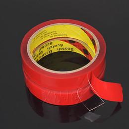 клеевой клей для автомобилей Скидка 6/8/10/20mm 3M Double Sided Acrylic Foam Transparent Adhesive Tape Car Screen Repair Tape Glue Sticker For Cars Auto Accessories