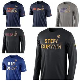 Vikingos de oro online-Hombres Denver Broncos Chicago Bears Minnesota Vikings Atlanta Falcons New York Giants Pittsburgh Steelers camiseta de la colección Gold Gold