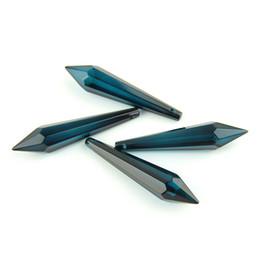 Wholesale 80mm Zircom blu cristallo U goccia prisma con singola faccia per sala da pranzo squisita illuminazione decorazione accessori vendere come le torte calde