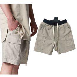 pantalon kaki pour hommes avec cordon Promotion Peur De Dieu Essential Cordon Shorts D'été Mode Casual Genou Pantalon Court Shorts Hip Hop Shorts Mens Khaki Designer Shorts