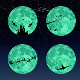 Mond zimmer tapete online-30 cm kinder schlafzimmer super helle leuchtende mond wandaufkleber kinderzimmer dekoration wohnkultur wandaufkleber aufkleber bilder tapete