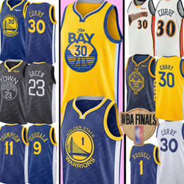 maglia klay thompson Sconti 2020 Stephen 30 Curry Jersey NCAA University Draymond 23 Green D'Angelo 1 Russell Klay 11 Thompson Maglie basket