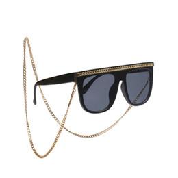 Metallperlenketten online-ROYAL GIRL Fashion Chic Womens Gold Brillenketten Sonnenbrillen Lesen Perlen Metall Brillen Kette Eyewears Cord