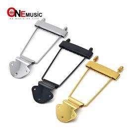 cordes de guitare Promotion 6 cordes Jazz Archtop Trapeze Guitar Cordier Guitare Electrique Creux Chrome Noir Or