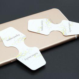 2019 armband-display-karten 200 Teilesatz Schmuckverpackung Karten für Halskette Armbänder DIY Machen Zubehör Whitle Hängen Clips Karte Grafikkarten rabatt armband-display-karten