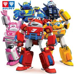 super robot de deformação Desconto Mais novo Grande Deformação Armadura Super Asas de Salvamento Figuras de Ação Robô Super Asa Transformação Motores de Incêndio Brinquedos Y19051804