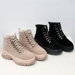 6bb445f4a5 2019 Women Winter Warm Boots Women Shoes Designer Boots Suede Lace-up  Casual Fashion Shake Boots Footwear shake up shoes on sale