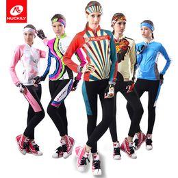 conjuntos de jersey de ciclismo anti-bacterianos Desconto Customizable Inglês cinta das mulheres de bicicleta terno de equitação terno de manga longa terno de equitação ao ar livre