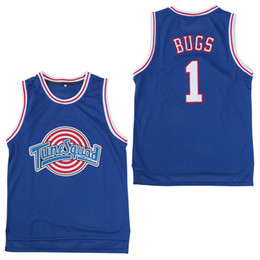 Bugs bunny basquete on-line-Space Jam Jersey Filme Tune Squad 1 Bugs Bunny 2 Patolino 1/3 Tweety 10 Lola Bunny TAZ Basquete Jerseys
