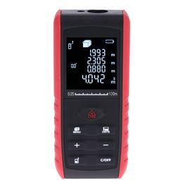 Medición de metros online-Digital LCD Medidor de distancia láser Medidor de alcance Medidor Diastímetro 40m / 60m / 80m / 100m Herramienta de medición del telémetro