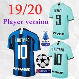 версия для игрока 19 20 inter home Футбольные майки 2019 2020 camisetas milan # 9 ICARDI Away LAUTARO # 44 PERISIC J.MARIO футболки форменные от Поставщики милан