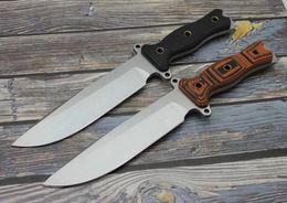 2019 cuchillos forjados a mano Envío gratis nuevo bison caballería mano forjada cuchillo DC53 hoja herramienta de caza al aire libre que acampa cuchillo de supervivencia multifunción cuchillos forjados a mano baratos