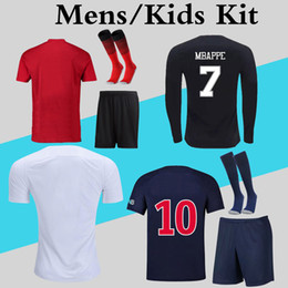 2019 футболка с длинным рукавом Any Soccer Jersey Mens Kids Kit 2019 2020 Сезон с длинным рукавом с коротким рукавом Футбольная форма носки с комплектом Клиенты Заказ Ссылка скидка футболка с длинным рукавом