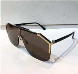 Lüks 0291 tasarımcı Için güneş gözlüğü kadın Moda Güneş Gözlüğü Wrap Sunglass Yarım Çerçeve Kaplama Ayna Lens Karbon Fiber Bacaklar Yaz tarzı cheap mirror coating sunglasses nereden ayna kaplama güneş gözlüğü tedarikçiler