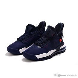Canada Chaussure de basket jumpman proto max 720 homme retro bleu marine rouge USA Gold Offre