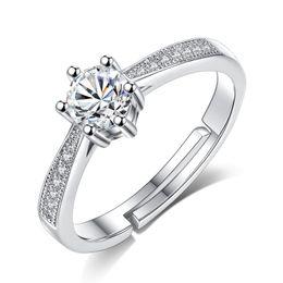 Dimensioni dell'anello swarovski online-Anelli di nozze formato della barretta regolabili per il regalo dei monili delle donne impreziosito da cristalli Swarovski