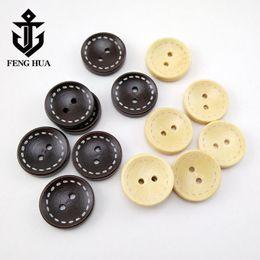 1000 unids botones de madera natural 2 agujeros botones redondos botones de madera libro de recuerdos desde fabricantes