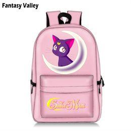 2019 FashionSailor Moon Students Backpack King Dog Children School Bags  Backpack for Teenager Girls Pink Book Bag Women Laptop Backpack da7c0c5c459e8