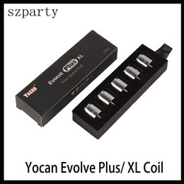 pens for Coupons - Yocan Evolve Plus XL Wax QUAD Coil Quad Quatz Rod Coils With Coil Cap For Evolve Plus XL Dab Pen Kit Shipping Free
