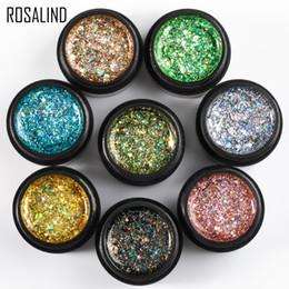 2019 projetos do brilho do prego do gel ROSALIND 5 ml Brilhante Diamante Gel Unha Polonês Brilhante Para Glitter Pintura Nail Art Design Poly UV Top Base Primer Para Manicure projetos do brilho do prego do gel barato