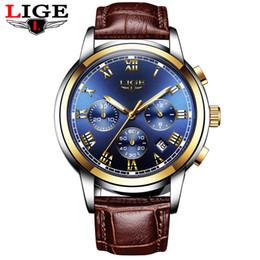 2019 máquinas de relogio de quartzo 2019 LIGE Luxo Marca Automatic Machinery Relógios Homens de couro impermeáveis Negócios Assista Men Quartz Relógio homem Relógio Masculino máquinas de relogio de quartzo barato