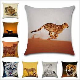 Африканские стулья онлайн-African animals Running Cheetah printed pillowcase Decoration home sofa car chair seat decor room friend kids gift cushion cover