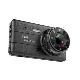 2019 kamera rückspiegel voll hd 4 Zoll Auto DVR Digital Dash Kamera Fahrzeug Drive Recorder 2 Kanäle vorne 170 ° Rückseite 120 ° Weitwinkel HD 1080P rabatt kamera rückspiegel voll hd