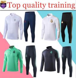 Набор тренировочных костюмов онлайн-новый 2019 2020 Алжир Mahrez BOUNEDJAH футбола тренировка костюм 19 20 Реал Survetement Майо де лапка Париж спортивного набор футбольного Тра