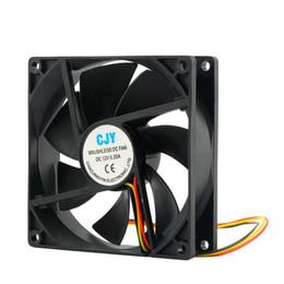 2019 fã da cpu 12v Alta Qualidade 12 V 3-Pin 9 cm 90x25mm 90mm Dissipadores de Calor CPU Cooler Ventilador de Refrigeração DC 65 CFM fã da cpu 12v barato
