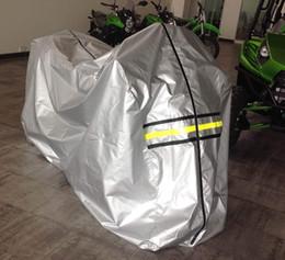 guitarras de stock privado Rebajas Los depósitos de almacenamiento de motocicletas de gran tamaño y con cobertura total cubren con brillo el material impermeable de color plata fabricado
